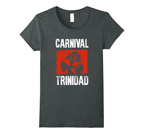 Soca Carnival Costumes (Womens Carnival Trinidad! Costume Silhouette T-Shirt Medium Dark Heather)