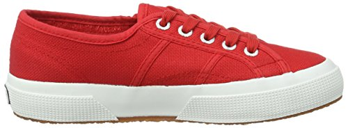 Superga red Rot Adulte 2750 Classic white Basses Mixte Cotu 1wrqTOx1