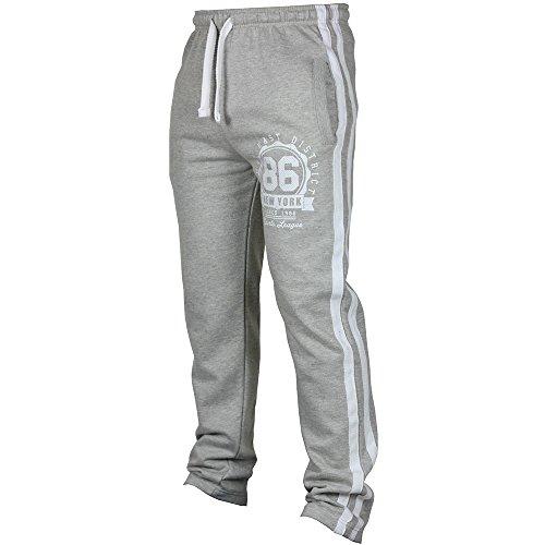 (DEATU New Joggers Pants Men's Classic Drawstring Zipper Pockets Sport Sweat Pants (M, Gray)
