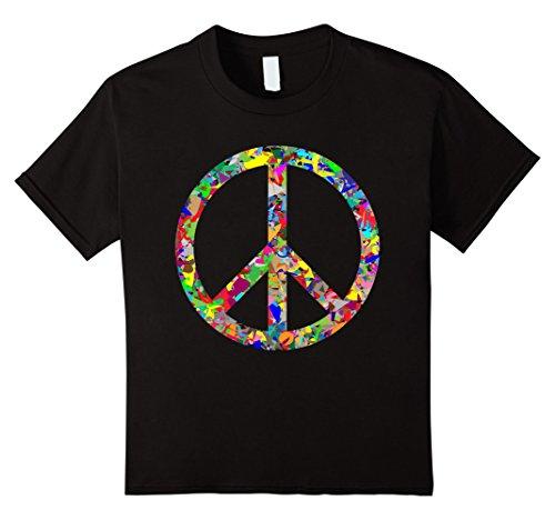 - Kids Peace Sign T-Shirt 4 Black