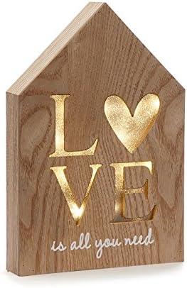 Dcasa - Caja de luz Forma casa Love romantica: Amazon.es: Hogar