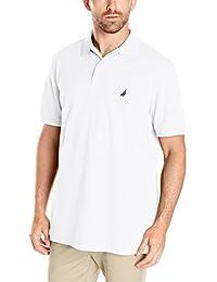 Nautica Men's Short Sleeve Solid Cotton Pique Polo Shirt