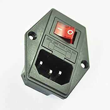 amazon com inlet module plug fuse switch male power socket 10a 250v rh amazon com