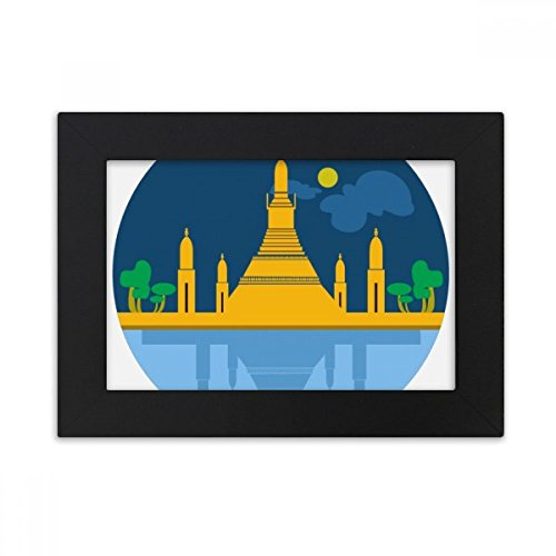 DIYthinker Thailand Special Temple Shield Desktop Photo Frame Black Picture Art Painting 5x7 inch by DIYthinker