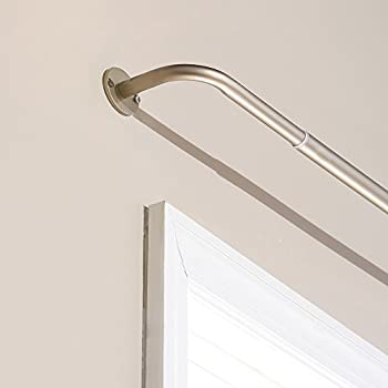 Beautiful Best Home Fashion Curtain Rod Collection   Wraparound Blackout Curtain Rod    Bronze   5/