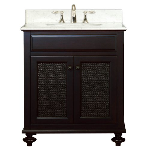 Water Creation LONDON30 London Collection 30-Inch (31-Inch with Countertop) Single Sink Bathroom Vanity Set