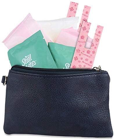 Kit de menstruación de 9 piezas para niñas de primer período para llevar – almohadillas menstruales, toallitas, forros, bolsos