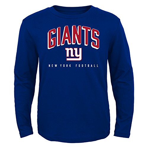 Giants Long Sleeve - NFL New York Giants Kids Arch Standard Long Sleeve Tee Royal, Kids Large(7)