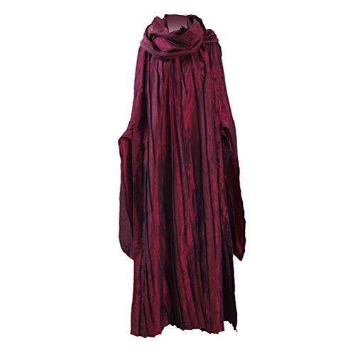 Qi Pao Womens Red Long Party Dress Cosplay Costume Halloween Robe Dress Full Set (Women-L, Red Full -