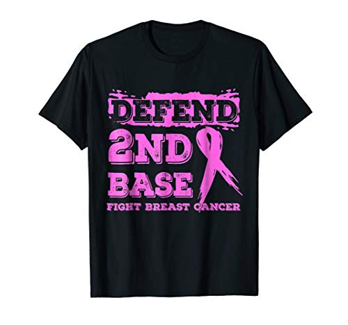 Defend 2nd Base Breast Cancer Awareness T-Shirts ()