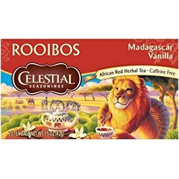 Celestial Seasonings Rooibos Tea, Madagascar Vanilla, 20 Count (Pack of 3)
