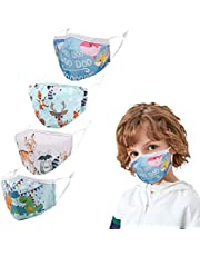 4 Pcs Kids Cute Printing Mask - Washable and Reusable Protection for Every Day use - Ideal for Children Ages 3-12