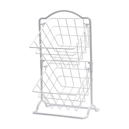 Gourmet Basics by Mikasa 5246301 General Store 2 Tier Hanging Basket White]()
