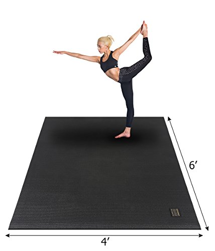 GXMMAT Large Yoga Mat 72 x 48 6 x4 x 7mm for Pilates Stretching Home Gym Workout, Extra Thick Non Slip Anti-Tear Exercise Mat
