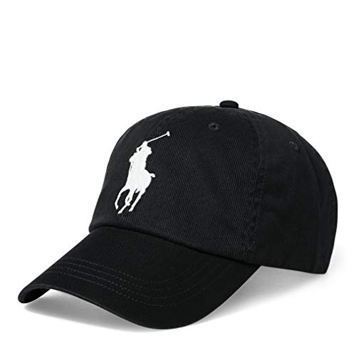 Polo Ralph Lauren Men Big Pony Logo Hat Cap, Black, One Size