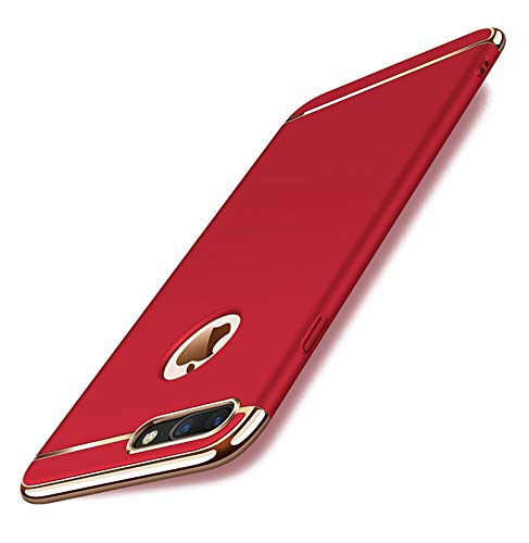 ka tike Compatible for iPhone 8 Plus / 7 Plus Case, Armor Shockproof Absorbing TPU + PC [Dual Layer Protection] Anti-Scratch Hybrid Bumper Series Durable Case Cover for iPhone 5.5 Inch-Hot Pink