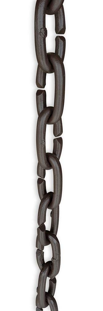 Cast Aluminum Oval Links - Bronze with Installation Kit (10 Foot)