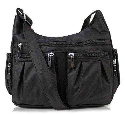 Scarleton Multi Pocket Shoulder Bag H140701 - Black