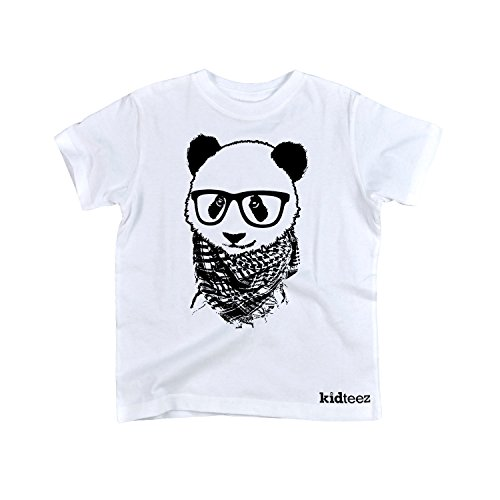 Instant Message Hipster Panda -TODDLER SHORT SLEEVE TEE-2T White