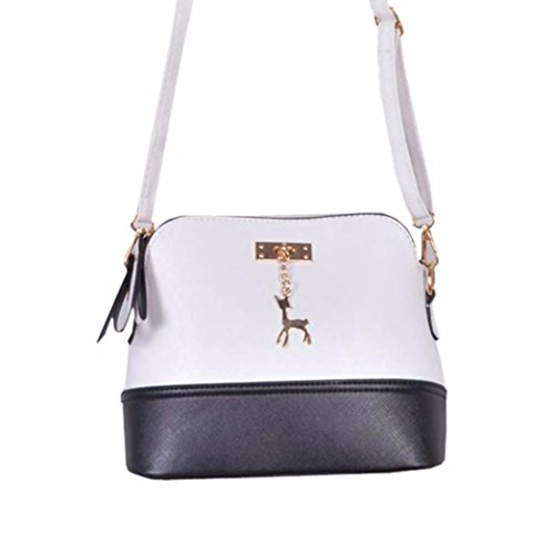 Medium Small Crossbody Deer Bag Lightweight with Pendant Clearance CieKen White with Tassel wAqBZ
