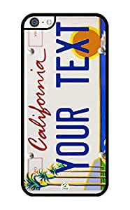 lsh California License Plate Personalized Design Beach RUBBER iPhone 5C case - Fits iPhone 5C T-Mobile, AT&T, Sprint, Verizon and International (Black)