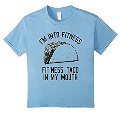 Fitness Taco Funny Gym T Shirt Humorous Mexican Food Tee