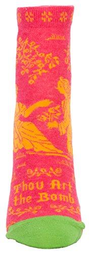 Lightweight Art - Blue Q Thou Art the Bomb Women's Ankle Socks (Pink) (Women's shoe size 5-10)