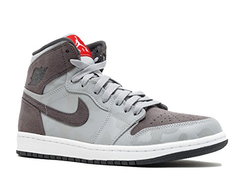 Nike Mens Air Jordan 1 Retro High PREM Wolf Grey AA3993-027