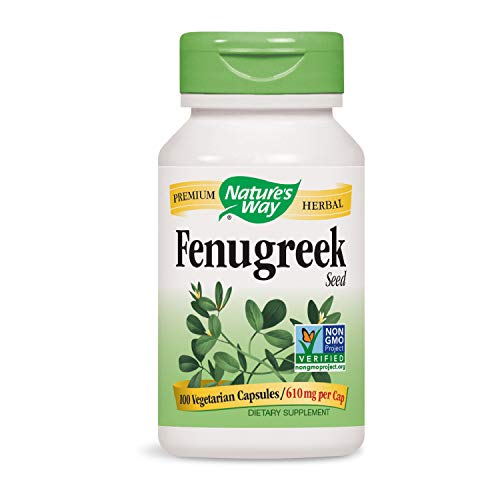 - Nature's Way Fenugreek Seed Non-GMO Project Verified TRU-ID Certified Vegetarian; 100Count (Packaging May Vary)