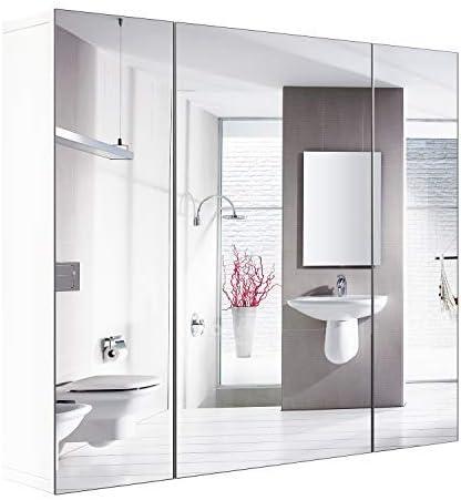 Amazon Com Homfa Bathroom Wall Mirror Cabinet 27 6 Inches
