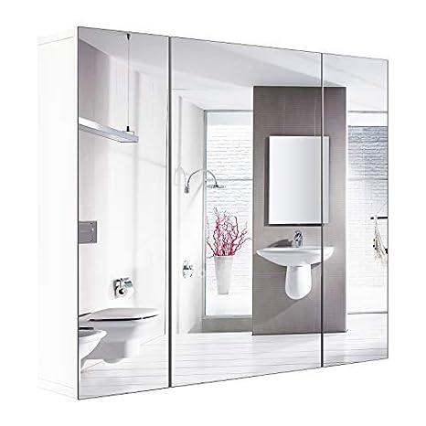 Pleasing Amazon Com Homfa Bathroom Wall Mirror Cabinet 27 6 Inches Download Free Architecture Designs Licukmadebymaigaardcom