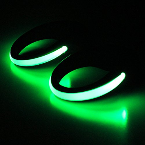 LED Sport Shoe Clip Lights, Night Reflective and Flashing Ollny Shoe Lights Gear with 2 Modes for Night Running Climbing Hiking Biking 1Pair with a Screwdriver