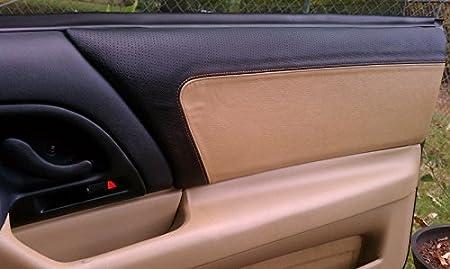 Medium Gray Leather-Black Thread RedlineGoods Sun Visor Covers Compatible with Chevrolet Camaro 1997-02