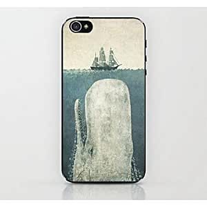 JAJAY- Rushed To The Ship's Whale Pattern Hard Case for iPhone 4/4S