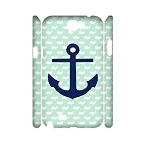 QNMLGB Hard Plastic of Chevron Anchor Cover Phone Case For Samsung Galaxy Note 2 N7100 [Pattern-1]