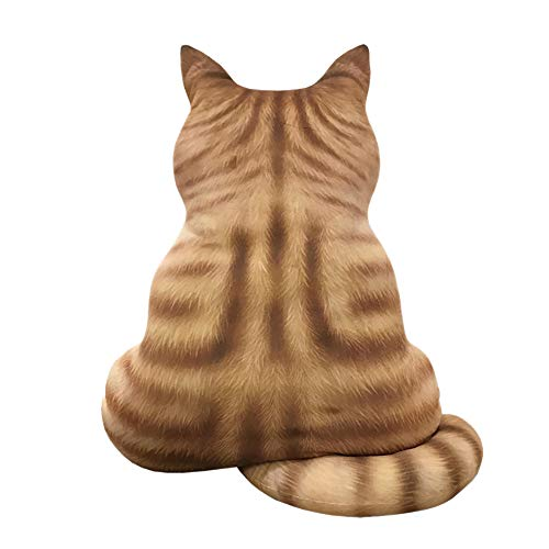 Hot Sale !!! Teresamoon 3D Printed Cat Back Cushion Plush Toy Gift Simulation Cat Pillow -