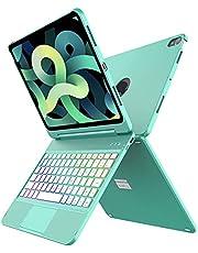 لوحة مفاتيح تاتش باد إير 4 2020، 10 لون Backlit، غطاء فوليو نحيف، لوحة مفاتيح تتبع لآيباد إير الجيل الرابع 2020 (11 بوصة)، آيباد برو 11 بوصة 2018 (رغوة البحر لآيباد إير 4)