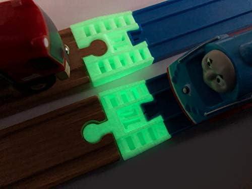 TrainLab Wooden Railway to Plarail Train Track Adapters (NiteBrite)