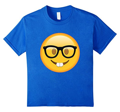 Nerd-with-Glasses-Emoji-T-shirt-Emoticon-Nerdy-Side-Tshirt