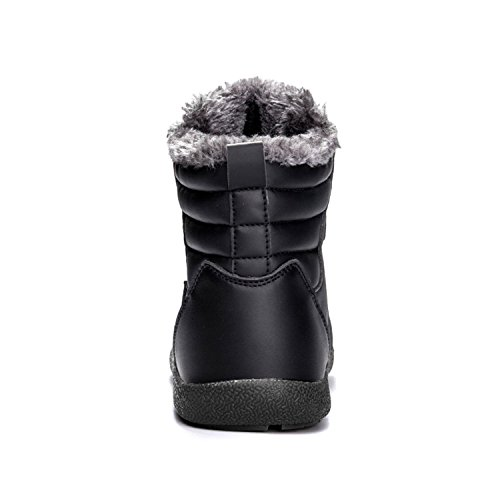 CIOR Mens Snow Boots Lace Up Ankle Sneakers High Top Winter Shoes With Fur Lining 2black Pp5JfC5