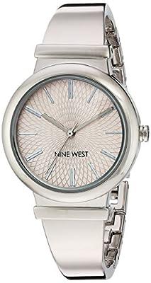Nine West Women's Quartz Metal and Alloy Dress Watch, Color:Silver-Toned (Model: NW/1917PKSB)