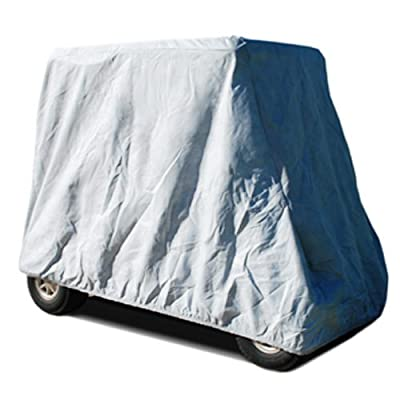 CarsCover HD Waterproof Golf Cart Cover 4 Passenger 5 Layer Storage Covers for Yamaha, Club Car, EZ Go (Fit up to 115 inch Long): Automotive