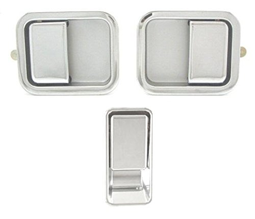 - DELPA CL4081 > 3 pcs = Outside Outer Exterior = Left & Right & Tailgate Chrome Door Handle Set Fits: 1987 thru 2006 Jeep WRANGLER