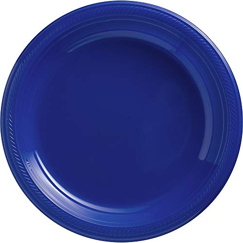Amscan 630732.105 Bright Royal Big Party Pack Plastic, Blue Plates, 10 1/4