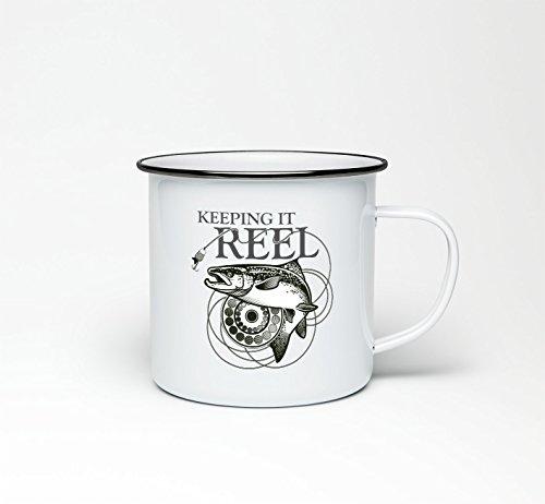 Keeping It Reel Mug Fishing Carp Angler Fly Fish Coffee Cup Tea 10oz Dad Gift
