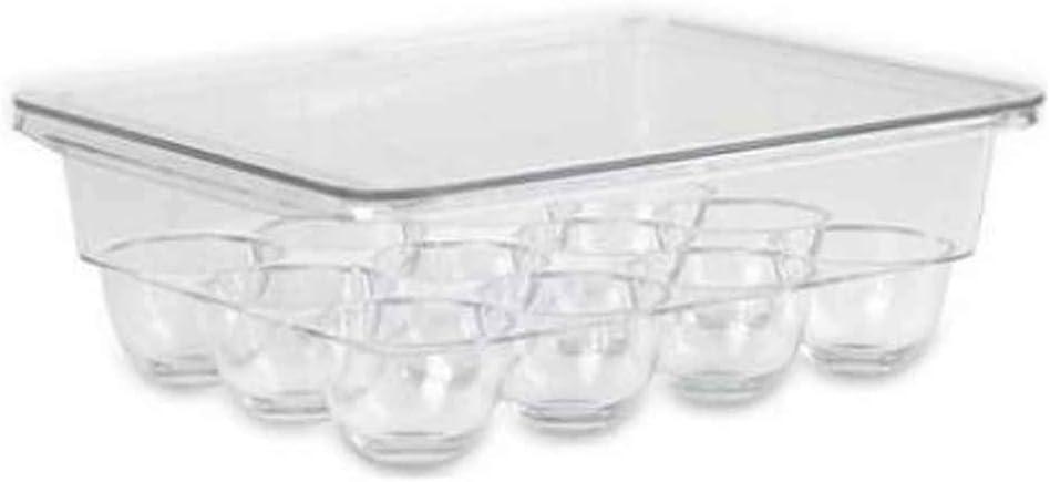 Black Temptation Scatole portaoggetti in plastica da Cucina per Uova Porta Uova 12 Tasche