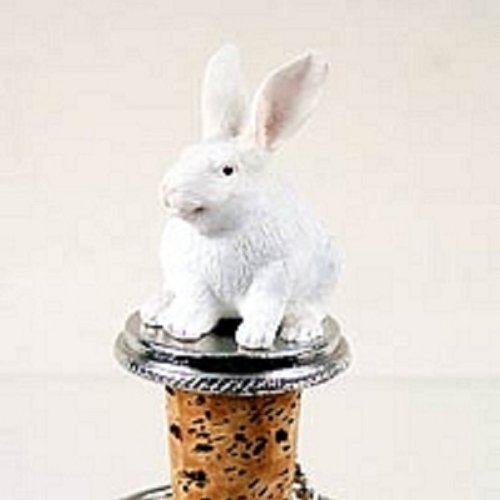 White Rabbit Bottle Stopper ()