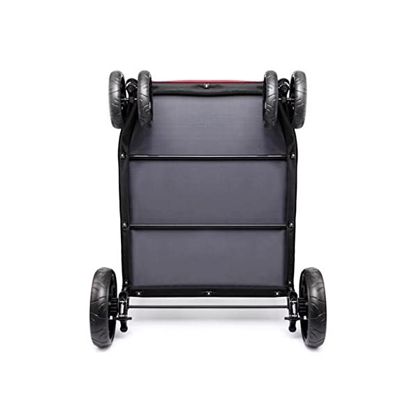 YD Pet Travel Carrier Pet Trolley Disabled Dog Assisted Vehicle Injured Dog Pet Scooter Outing Folding Cart Large And… Click on image for further info. 4