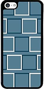Case for Iphone 5c - White And Blue Squares