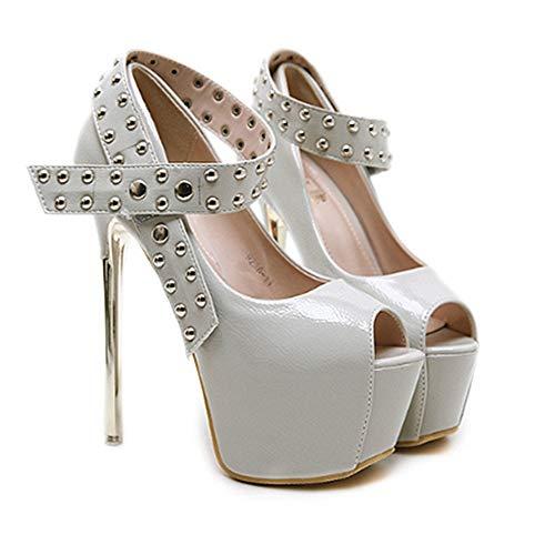 de de de Correa de la Talones Cruzada de PU Mujeres Ultr Zapatos Hebilla los Ligeros de AnchengKAO la la Plataforma Las qEaxSAS